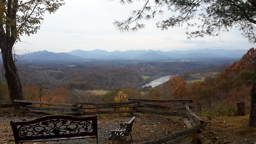 View from atop our mountain at our campground in Asheville, NC