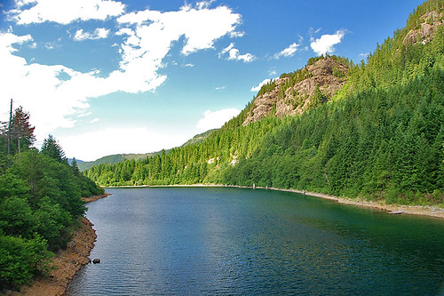 Upper Campbell Lake, Strathcona Provincial Park, Vancouver Island, British Columbia, Canada