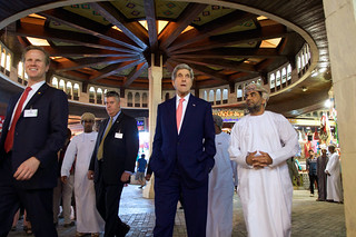 Secretary Kerry Walks Through Muttrah Souk in Oman
