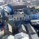 Roof top view of Church Street in Preston