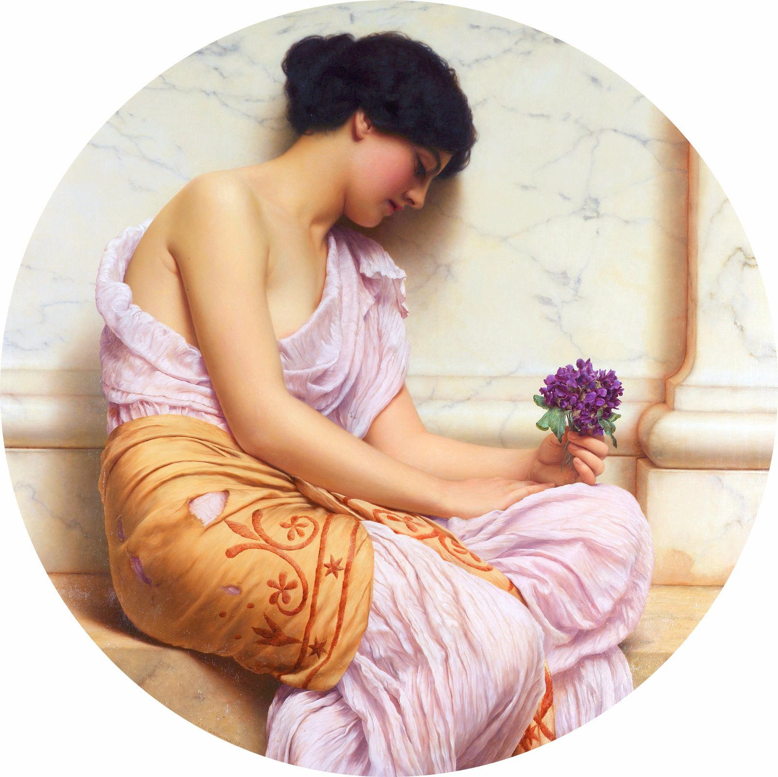 Violets, Sweet Violets by John William Godward