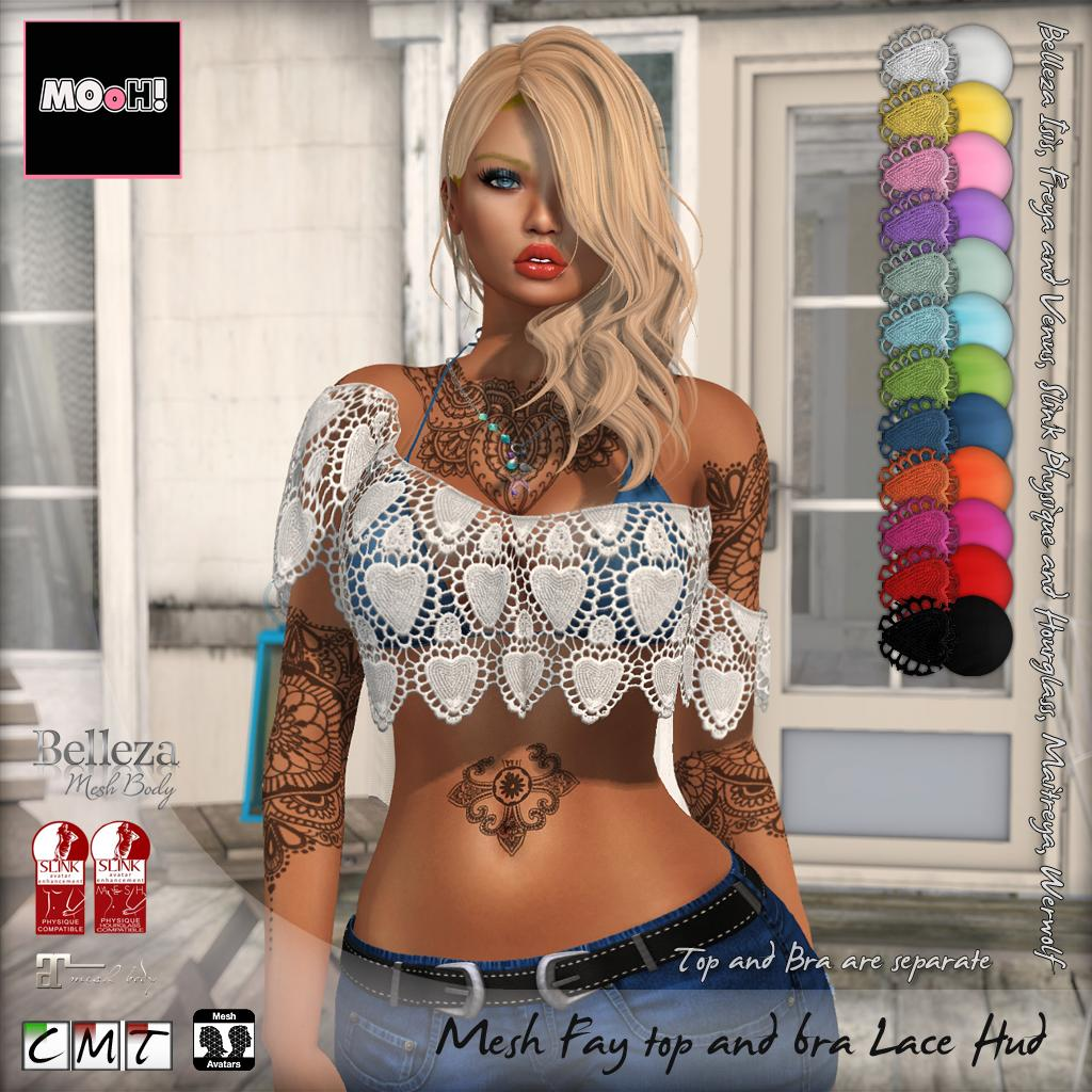 Fay top and bra lace hud - SecondLifeHub.com