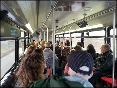 Photo of Elected officials on bus tour of Eagle Project