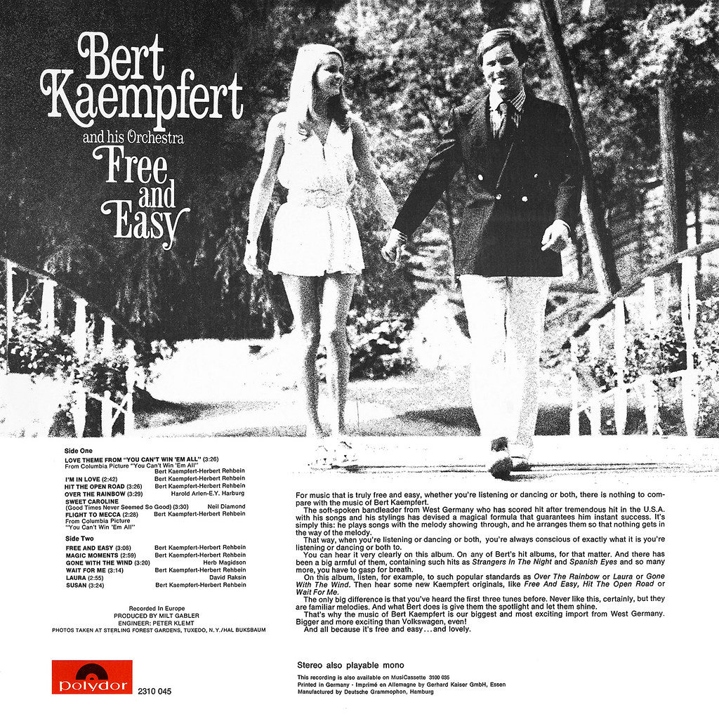 Bert Kaempfert ‎– Free and Easy
