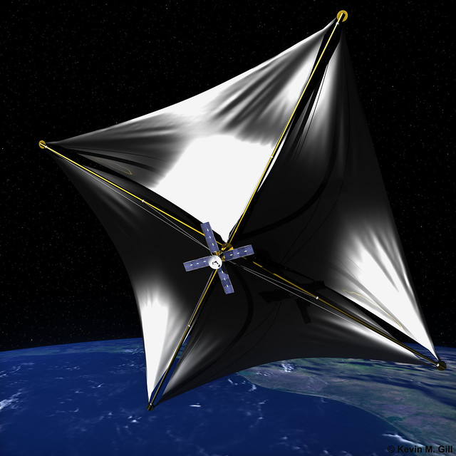Solar sail cruising the space