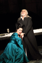 Maria Agresta and Plácido Domingo in I due Foscari © ROH/Catherine Ashmore, 2014
