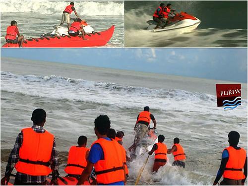 Jet skiing, banana boats At Puri Beach attract tourist