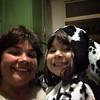 Ahora #Selfie con mi cachorra y su disfraz de dálmata xD
