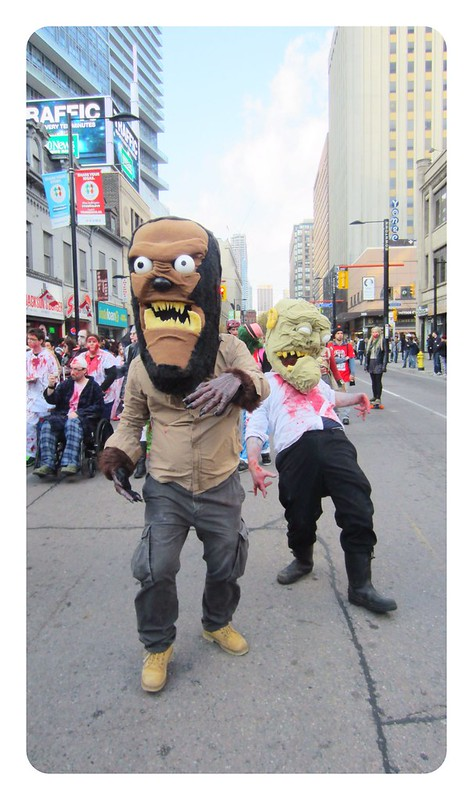 Toronto zombie walk and Halloween parade 2014
