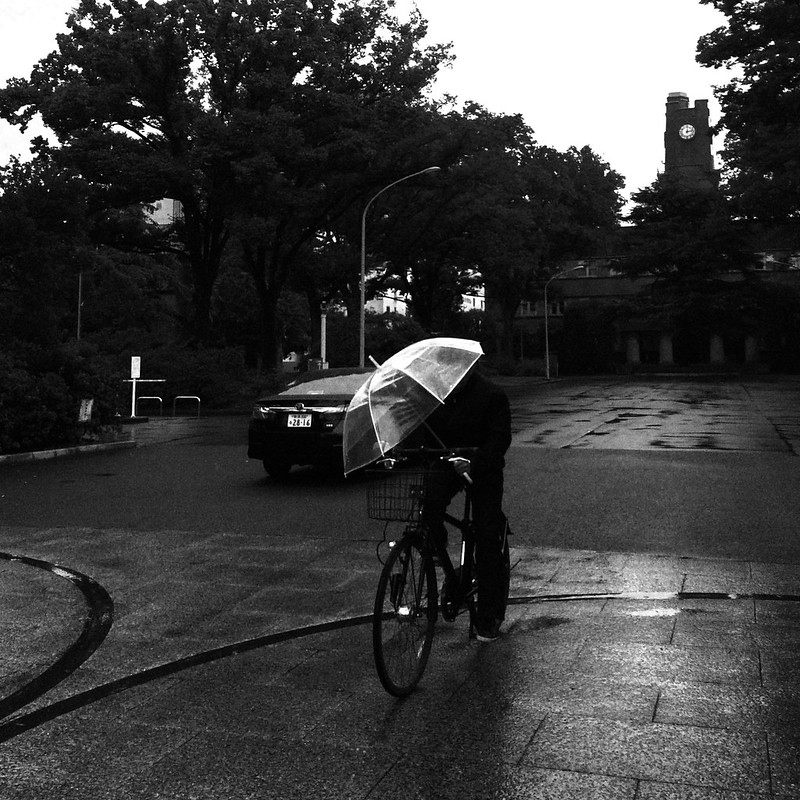 Day 4: Rainy Cyclist, Tokyo, 2014