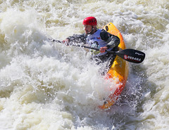 vehicle(1.0), sports(1.0), rapid(1.0), river(1.0), recreation(1.0), outdoor recreation(1.0), kayak(1.0), boating(1.0), canoe slalom(1.0), extreme sport(1.0), water sport(1.0), kayaking(1.0), whitewater kayaking(1.0), watercraft(1.0), canoeing(1.0), boat(1.0), rafting(1.0),