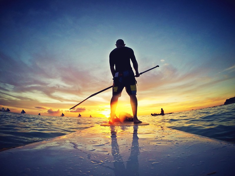 Saturday are for adventure.SUP to the magical sunset in Boracay Island, Philippines. What a magnificent view. Awesome weekend. #SUP #boracay #sunset #gopro #hero #weekend