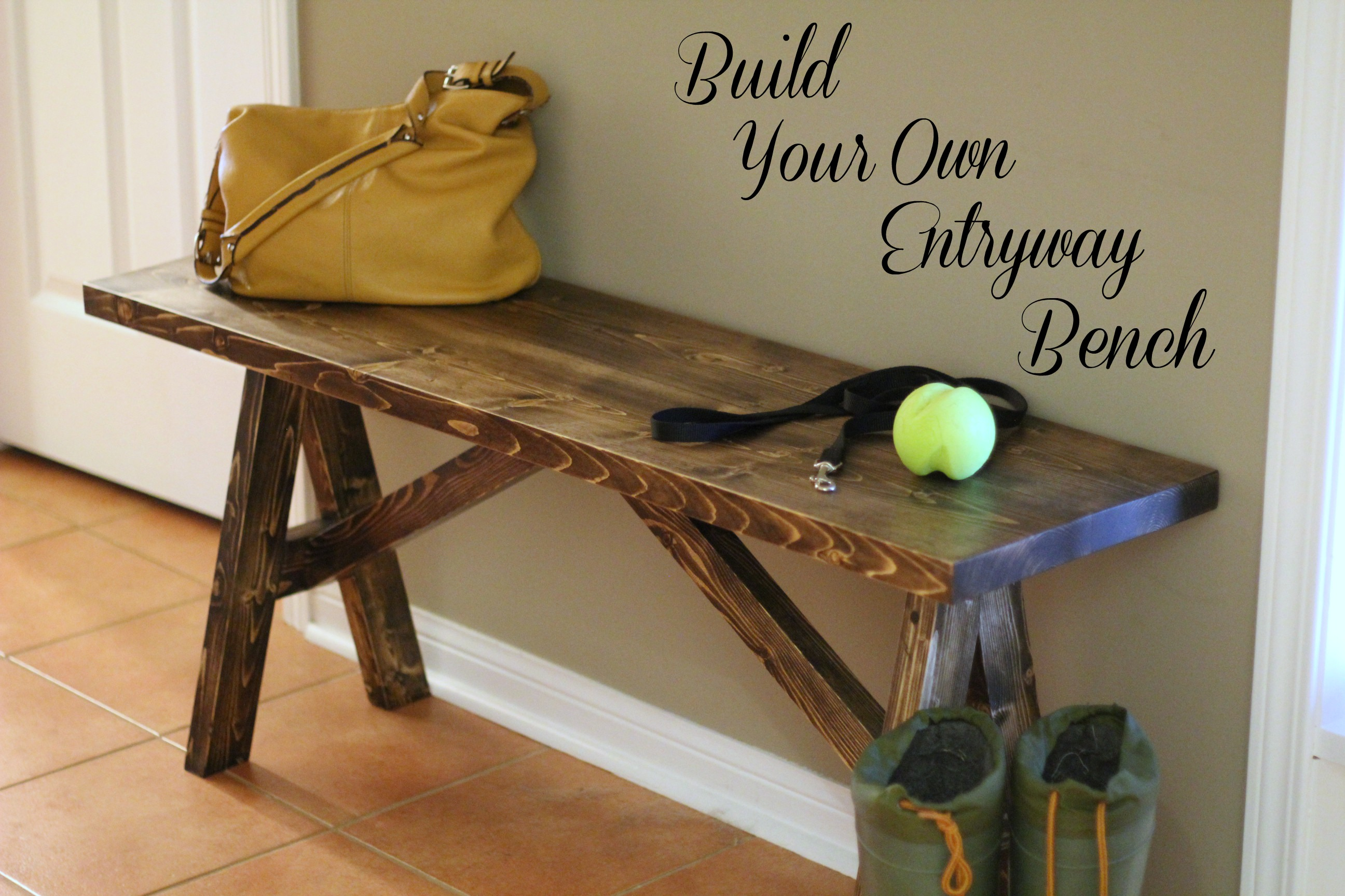 Build Foyer Bench : Turtles and tails build your own entryway bench shelf