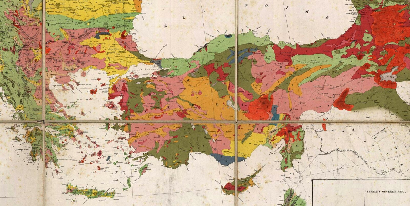 Afternoon Map Geological Map Of Turkey - Map of turkey