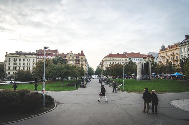 The Náměstí Jiřího z Poděbrad, or Jiřák, Farmer's Market in Prague's Vinohrady neighborhood can be found on a beautiful open square, easily accessible by public transport.