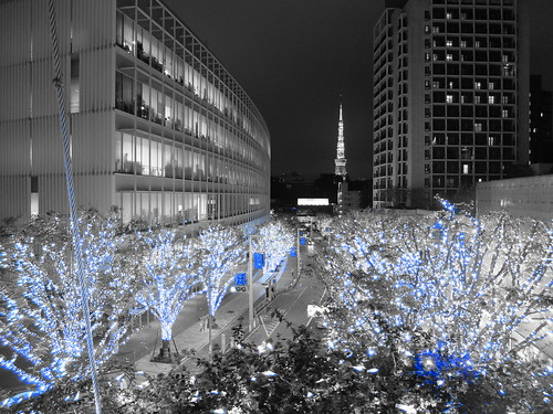 FUJIFILM X30 night scene illumination SNOW&BLUE Advanced filter Part color blue