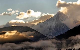 Aiguille verte vue de Combloux (Haute Savoie - France)