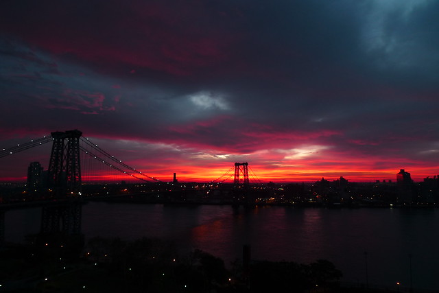 sunrise over the east river