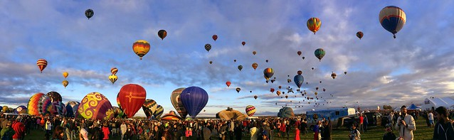 Balloon Fiesta 2014 Panorama