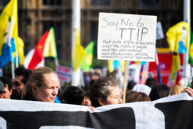Anti-TTIP Protest 11-10-2014 - 07 from Flickr via Wylio