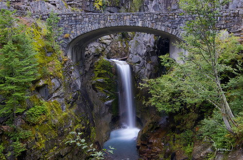 longexposure bridge trees nature creek waterfall arch falls le mtrainiernationalpark christinefalls vantrumpcreek 1riverat matthewreichel