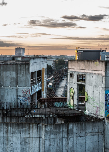 city urban abandoned architecture sunrise dawn nikon poland polska railway trains fromabove explore nikkor wroclaw urbanscape d800 wrocław breslau cityfromabove breslavia urbanexplore nikkor2870 architecturephotos nikond800