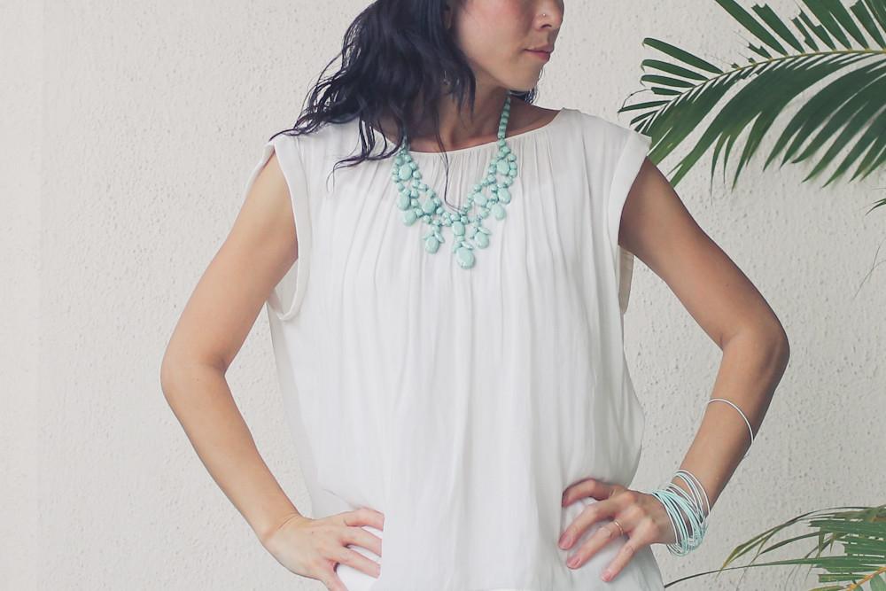 Gap flower print pants Zara shirt Forever 21 necklace_-8