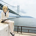 Small photo of Lily visiting Akashi bridge