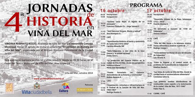 invitacionprograma_IV_Jornadas de Historia en Viña del Mar