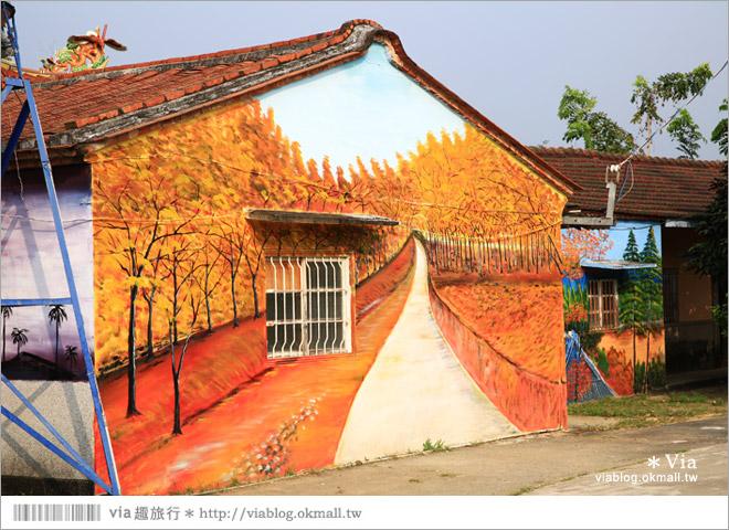 【關廟彩繪村】新光里彩繪村~在北寮老街裡散步‧遇見全台最藝術風味的彩繪村5