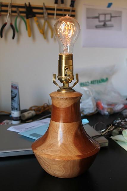 Refurbished Cherry Lamp