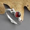 Garnet Twig Ring