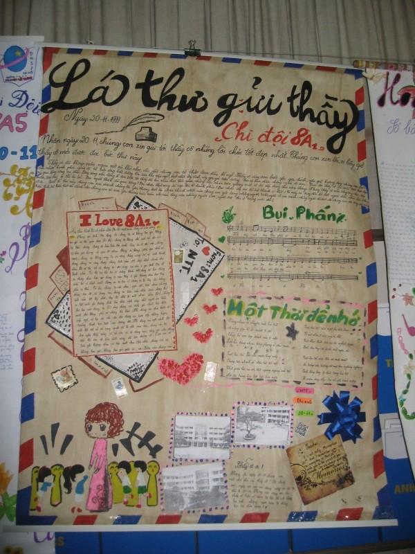 Cách làm báo tường ngày 20/11 ĐẸP nhất giật giải lá thư gửi thầy