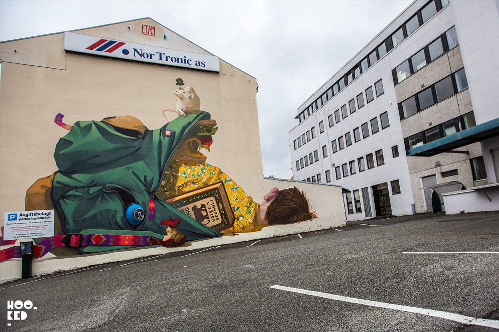 Polish artists ETAM Crew Mural in Stavanger, Norway. Photo ©Mark Rigney / Hookedblog