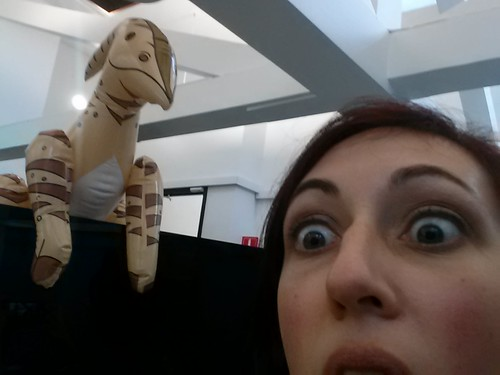 Work dinosaur is watching me. @brightroll #hax
