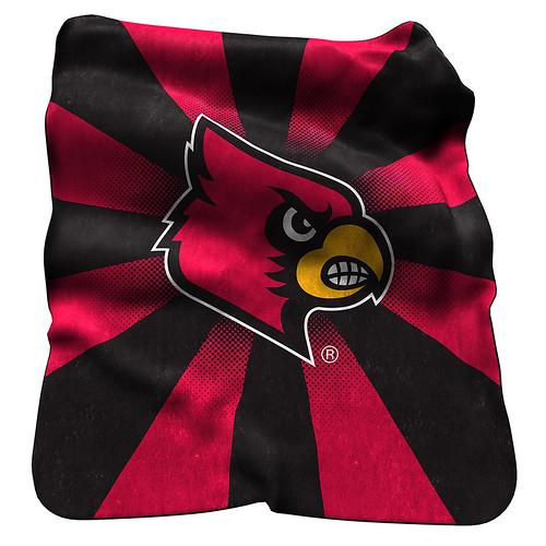 Louisville Cardinals NCAA Raschel Blanket