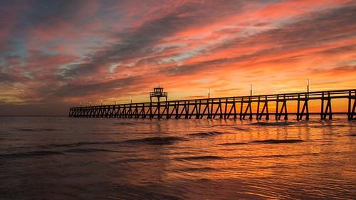 morning sea sky mer seascape sunrise canon eos pier ciel sur luc normandie tamron normandy calvados matin littoral 70d 500px ifttt