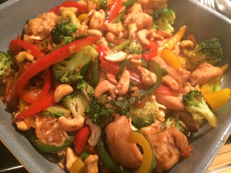 Chicken Cashew Nut and broccoli Stir Fry : Last shot