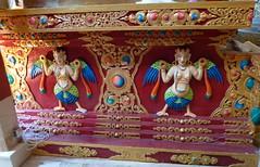 Hemis Monastery: details of a Buddha pedestal