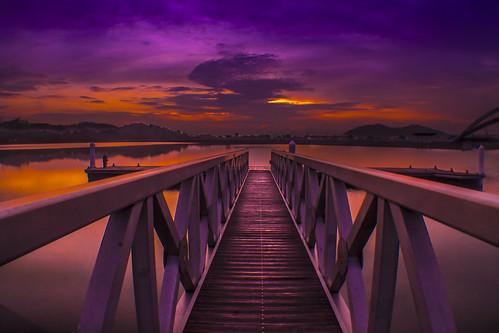 morning clouds sunrise jetty putrajaya picc jeti putrajayamalaysia
