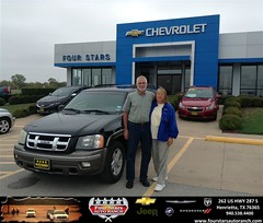 #HappyAnniversary to Frank and Sandy Hughes on your 2003 #Isuzu #Ascender from Dewayne Aylor at Four Stars Auto Ranch!