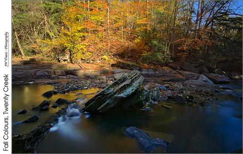 longexposure autumn creek nikon stream gimp opensource fallcolours niagaraescarpment twentycreek nd10 d7100 rawtherapee 10stopneutraldensity nikor1224mm twentyvalleytrail twentyvalleyconservationarea