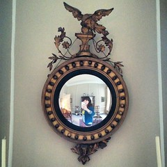 Not exactly Parmigianino. Nice mirror though.
