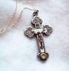 Vintage reliquary cross St. Frances X. Cabrini