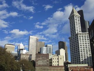 Seattle skyline from Occidental Park