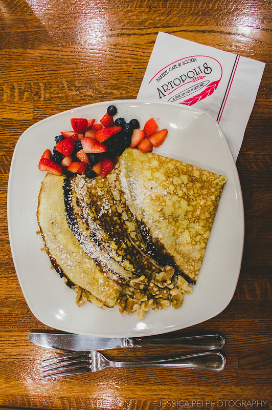 Crepes at Artopolis Greek Restaurant Bakery Cafe Agora in Chicago