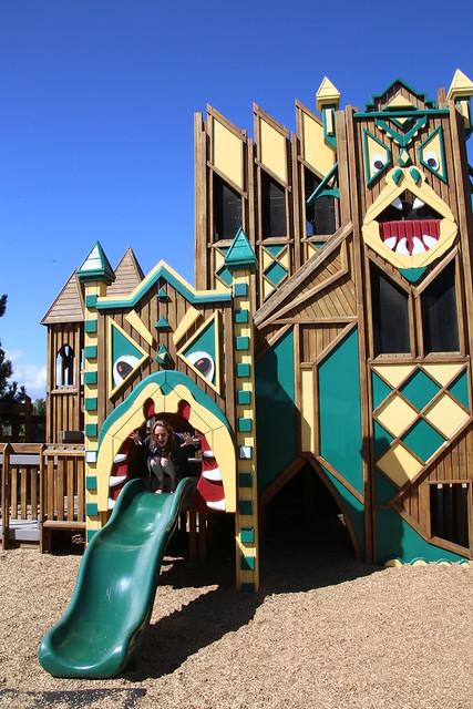 Dragon Hallow Playground.  Missoula, Montana.  USA.