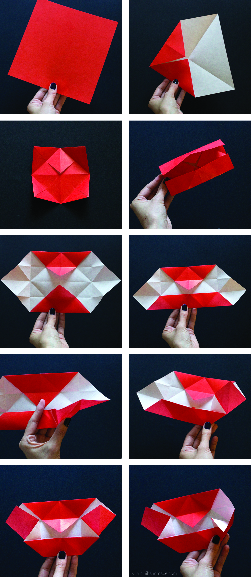 Оригами из бумаги вампир
