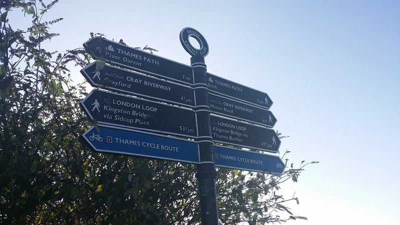 Take your pick -  just 2 directions but plenty of paths to choose from #LondonLOOP #sh