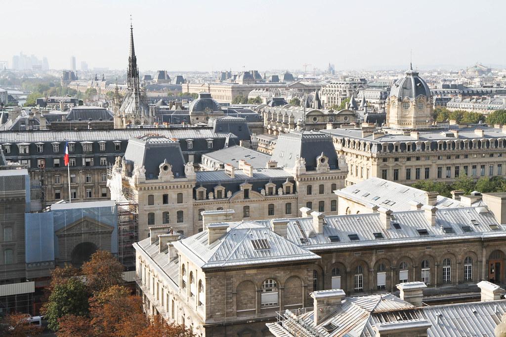 Paris atop Notre Dame